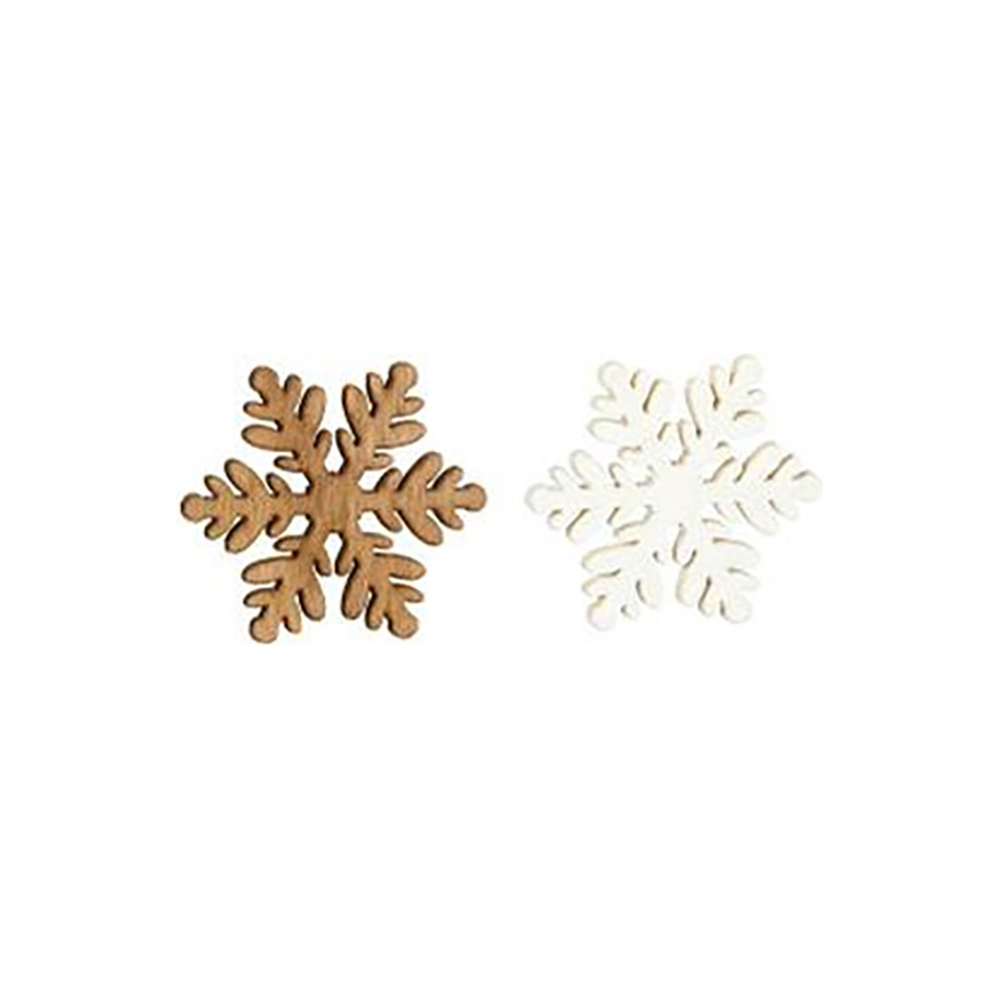 Fiocchi di neve in legno (54 pezzi)