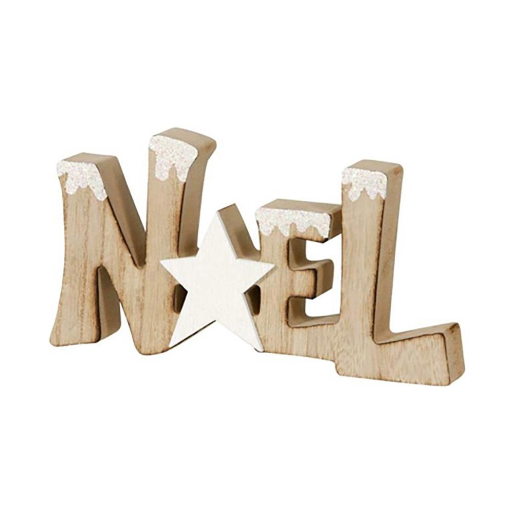 Scritta noel in legno
