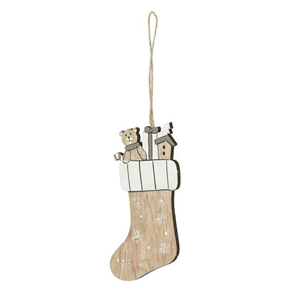 Calza pendente in legno