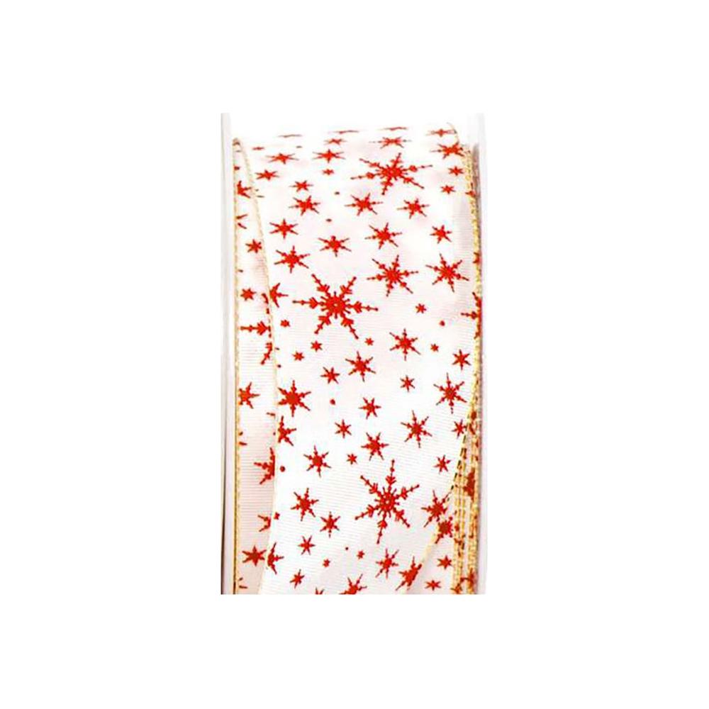 Tessuto taffeta' tobia stelle rosse