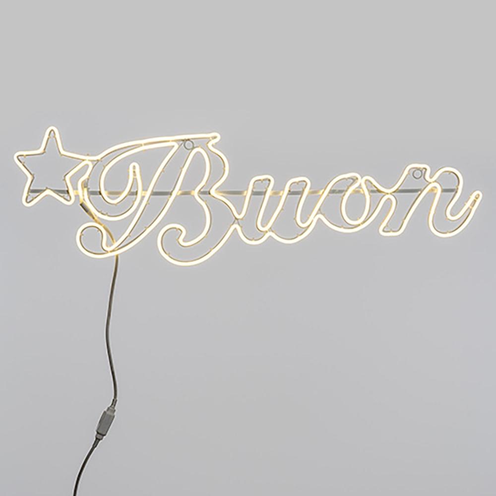 Scritta buon led con luci neon