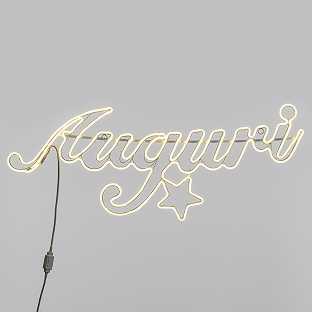 Scritta auguri luminosa con luci led neon