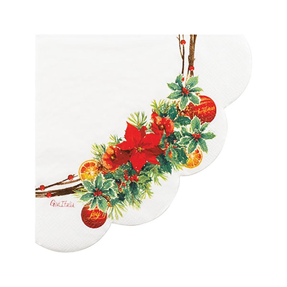 Tovaglioli smerlati christmas joy (16 pezzi)