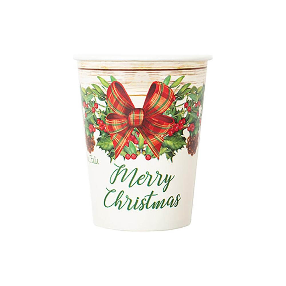 Bicchieri country christmas (8 pezzi)