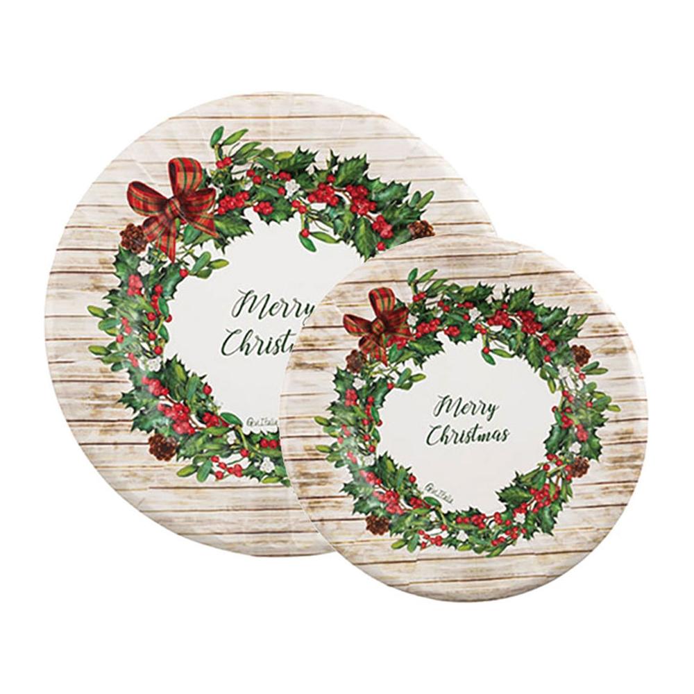 Piatti in carta country christmas (8 pezzi)