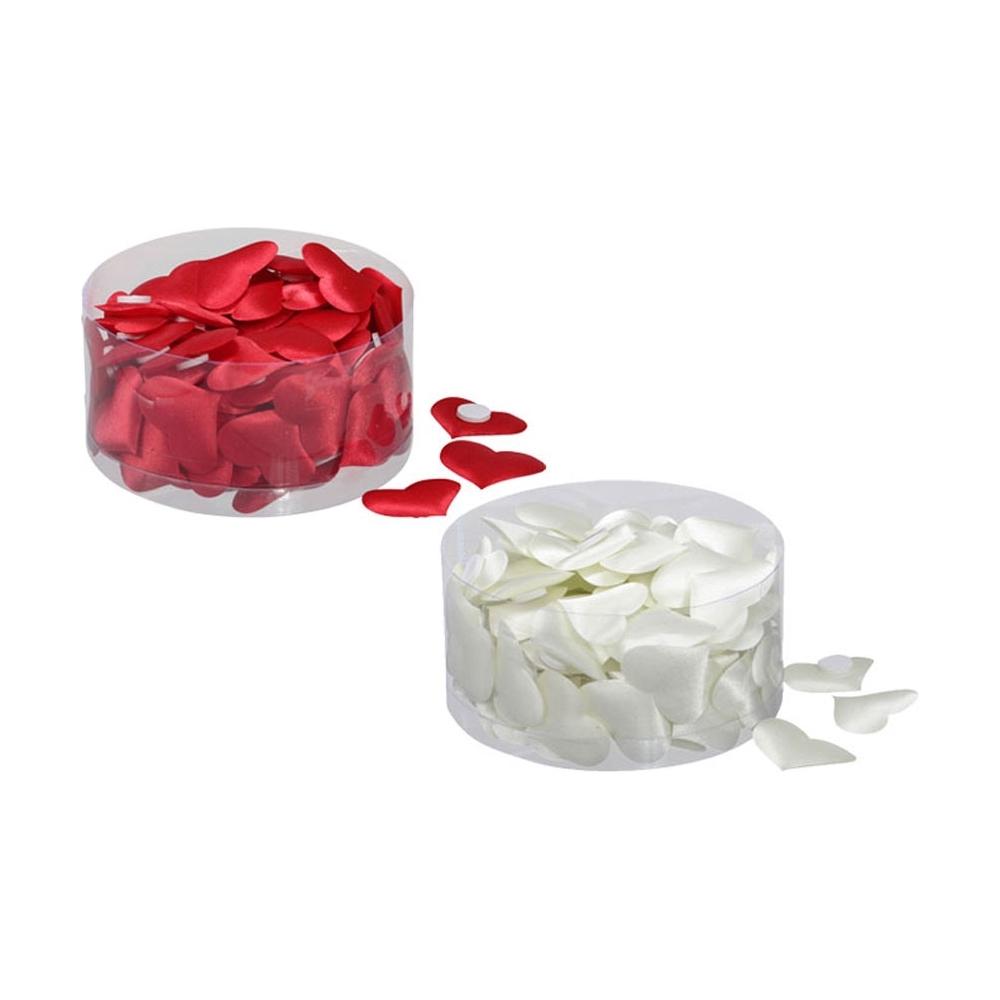 Cuori adesivi in tessuto (100 pezzi)