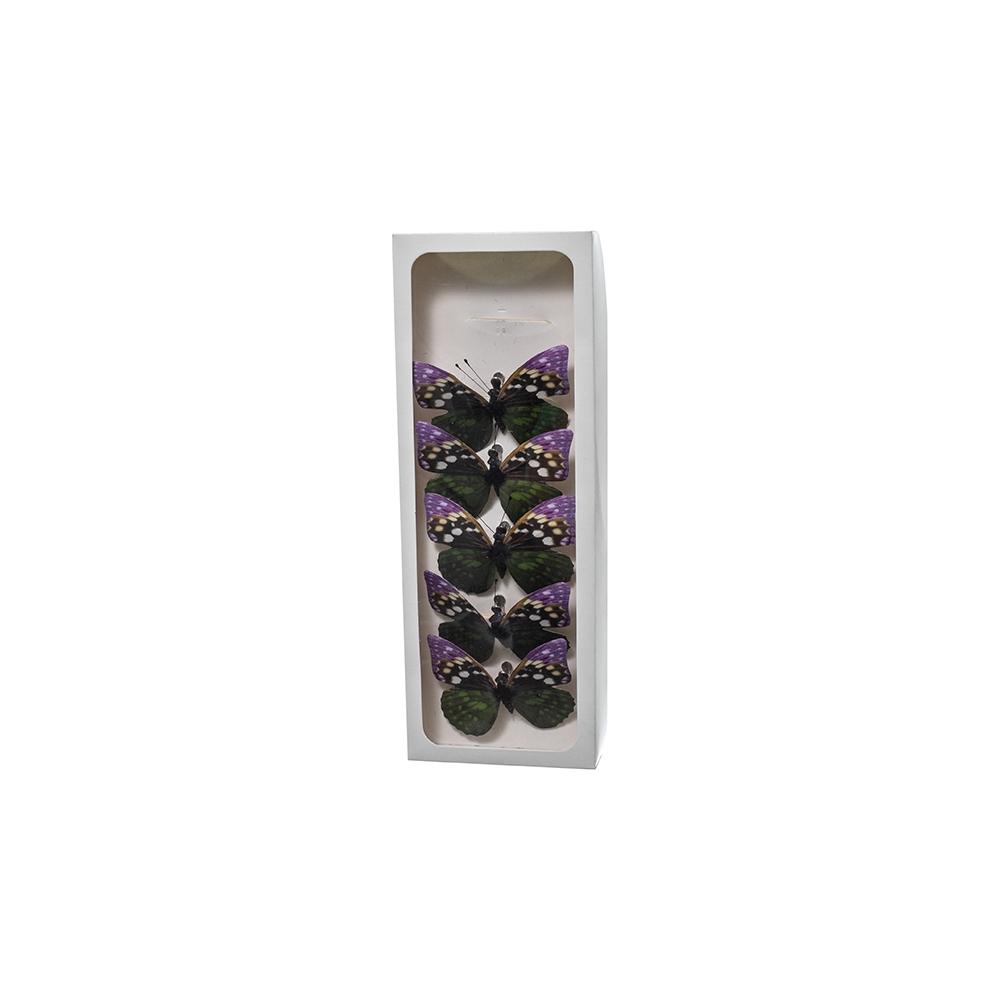 Farfalle con clip (6 pezzi)