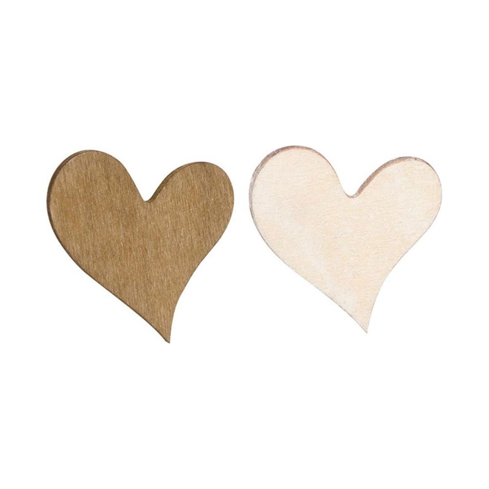 Cuori in legno (54 pezzi)