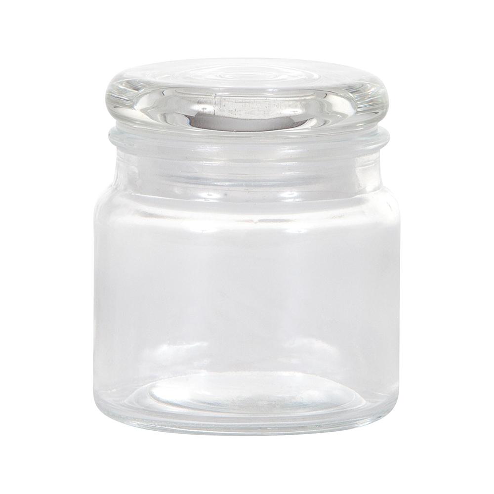 Vasetto in vetro con tappo in vetro