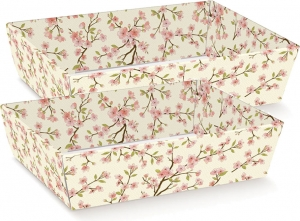 Vassoio conico in cartoncino con fantasia floreale