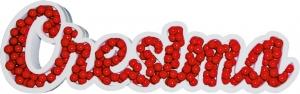 Portaconfetti scritta Cresima in polistirolo