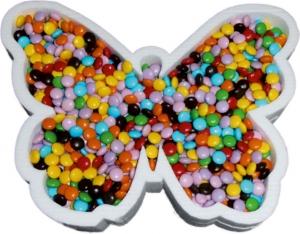 Portaconfetti a forma di farfalla i in polistirolo