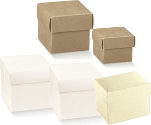 Scatole quadrate con coperchio