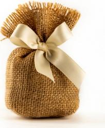 Sacchettino portaconfetti Calcutta in juta in confezione da 10 pezzi