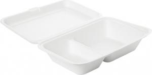scatola in bagassa a due scomparti per delivery take away asporto vendita online all'ingrosso