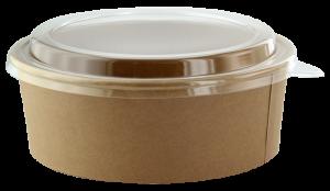 Insalatiera in cartoncino kraft con coperchio in pet combo-pack per asporto e take away di alimenti ristoranti ingrosso online