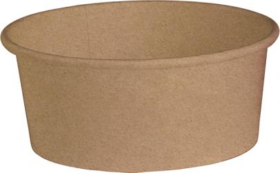 Insalatiera in cartone kraft avana - coperchio abbinabile per asporto, delivery e take away