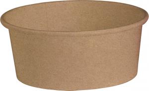 Insalatiera in cartone kraft avana - coperchio abbinabile per asporto, delivery e take away vendita online all'ingrosso
