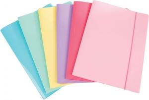 Cartella con elastico colori assortiti