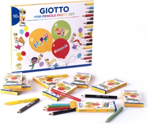 Mini pencils party set Giotto in confezione da 10 pezzi