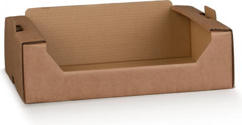 Cassetta in cartoncino accoppiato avana naturale per consegne a domicilio