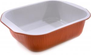 Contenitori in alluminio laccato Rame confezione da 50 pezzi per asporto e delivery di cibo take away incartare