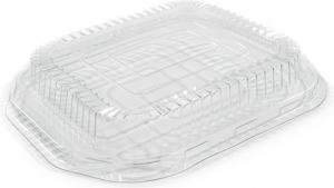 coperchio trasparente per contenitore in alluminio laccato rame per cibi da asporto e delivery. Incartare ingrosso b2b