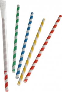 Cannucce Bio in Carta Colorata Imbustate (250 pezzi) | Vendita online all'ingrosso b2b
