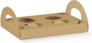 Porta Bicchieri in Cartoncino 4 Fori con Manici (10 Pezzi) - Vendita online all'ingrosso