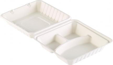 Box a 3 scomparti i bagassa in confezione da 50 pezzi
