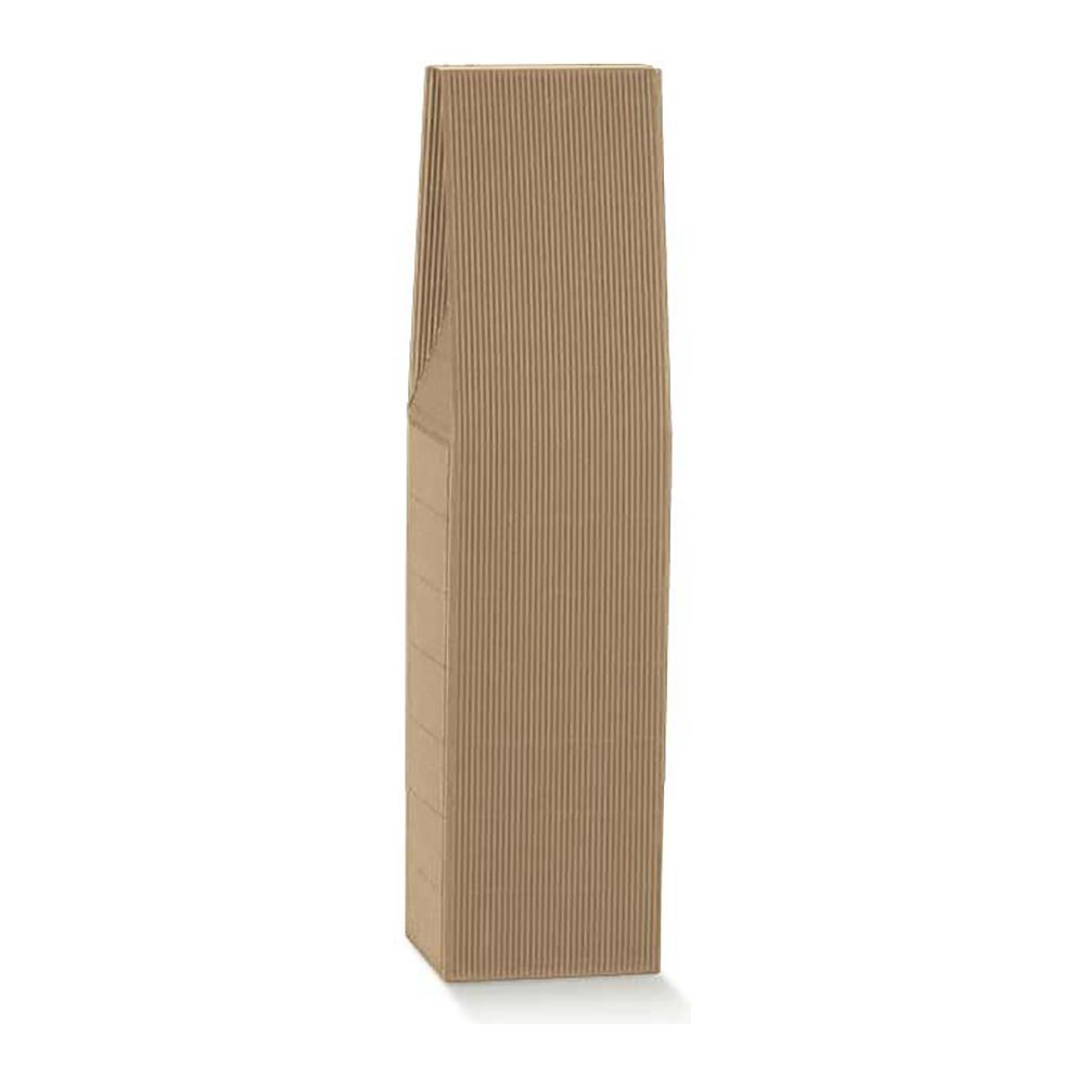 Scatole portabottiglia in cartoncino ONDULATO AVANA