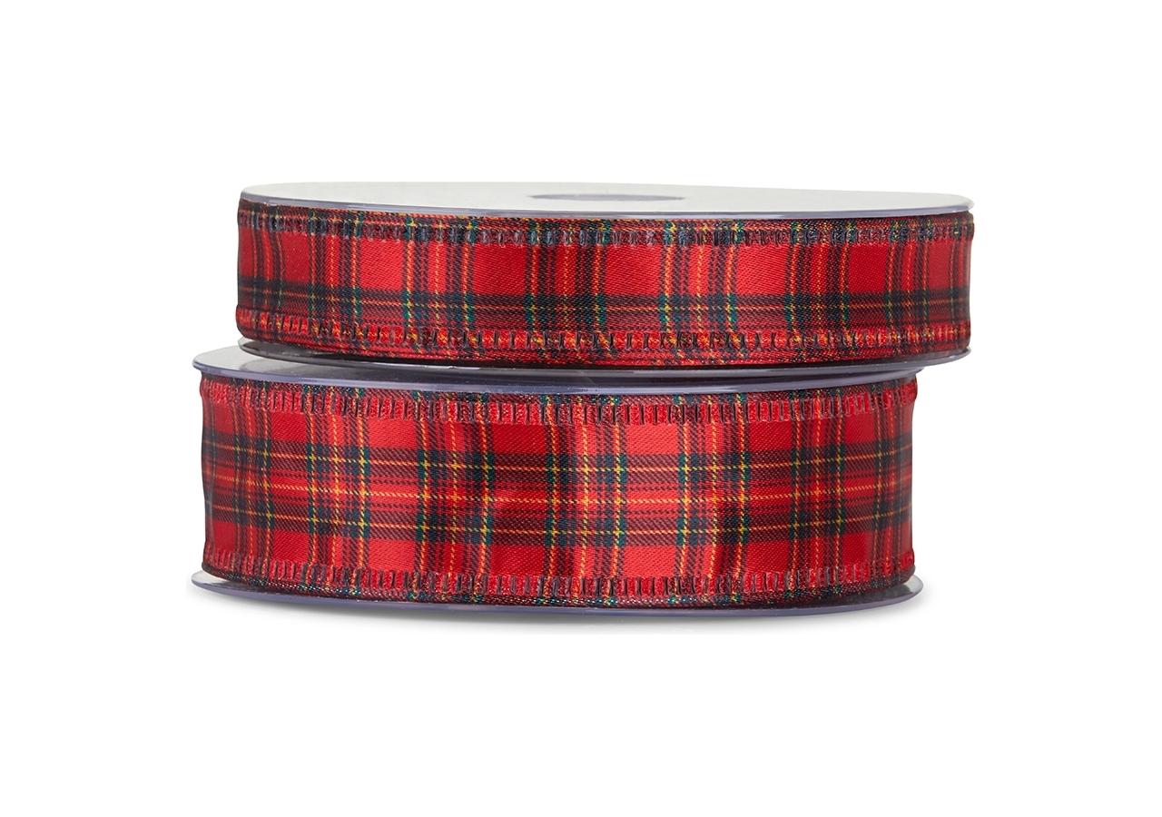 Nastro in raso scozzese, disponibile in diverse altezze-vendita all'ingrosso e on-line