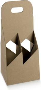 CESTELLO AVANA PER BOTTIGLIE Cestello in Cartoncino per Quattro Bottiglie Vendita online all'ingrosso b2b
