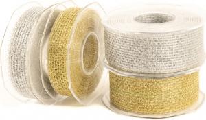 Nastro rete Lurex Furlanis-Disponibile nei colori oro e argento - Vendita all'ingrosso e on-line