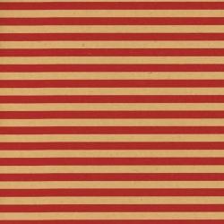 Carta paglia a righe rosse in confezione da 25 fogli