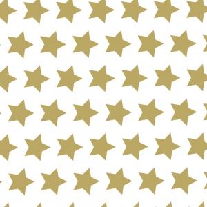 Carta da regalo stelle oro in confezione da 25 fogli