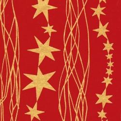 Carta regalo eco con stampa stelle oro in confezione da 25 fogli