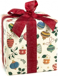 Carta regalo con stampa decorazioni albero in confezione da 25 fogli