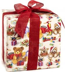 Carta regalo con stampa fantasia giocattoli e orsetti in confezione da 25 fogli