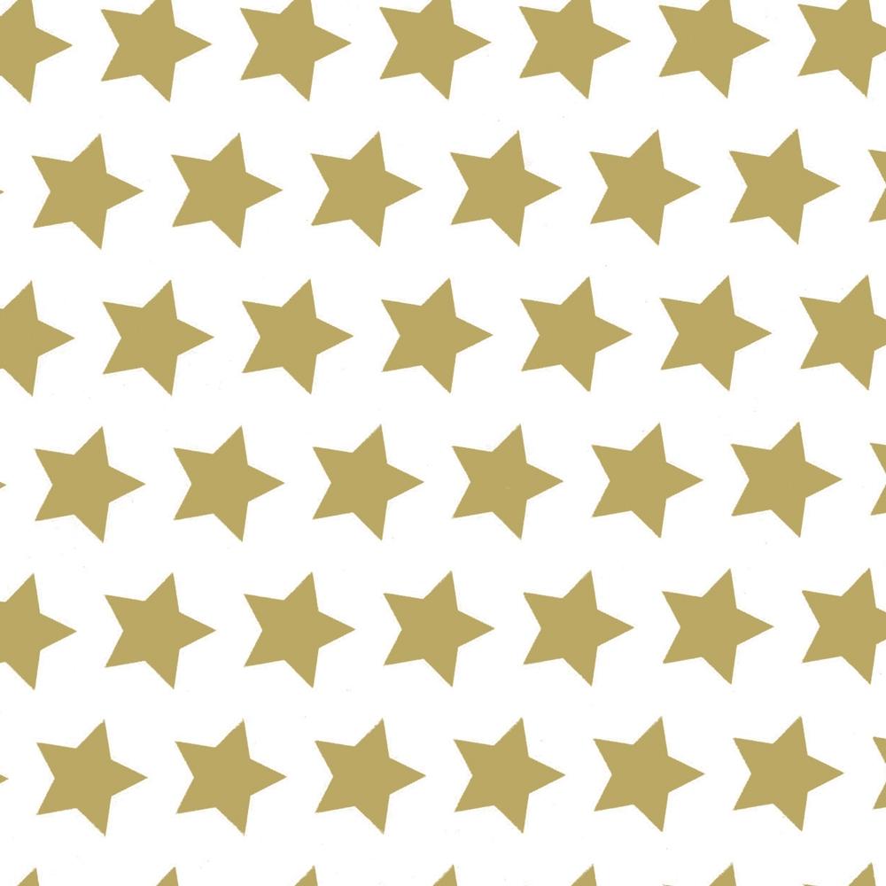 Bobina carta da regalo con fantasia stelle color oro