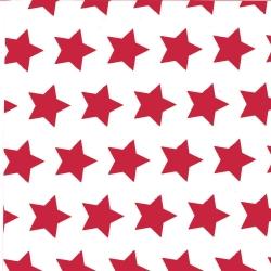 Bobina carta da regalo con fantasia stelle rosse