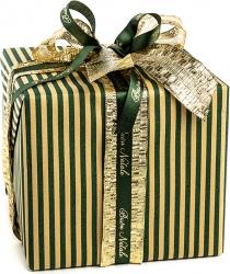 Bobina di carta paglia con fantasia a righe verdi