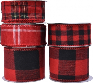 Nastro scozzese rosso per decorazioni
