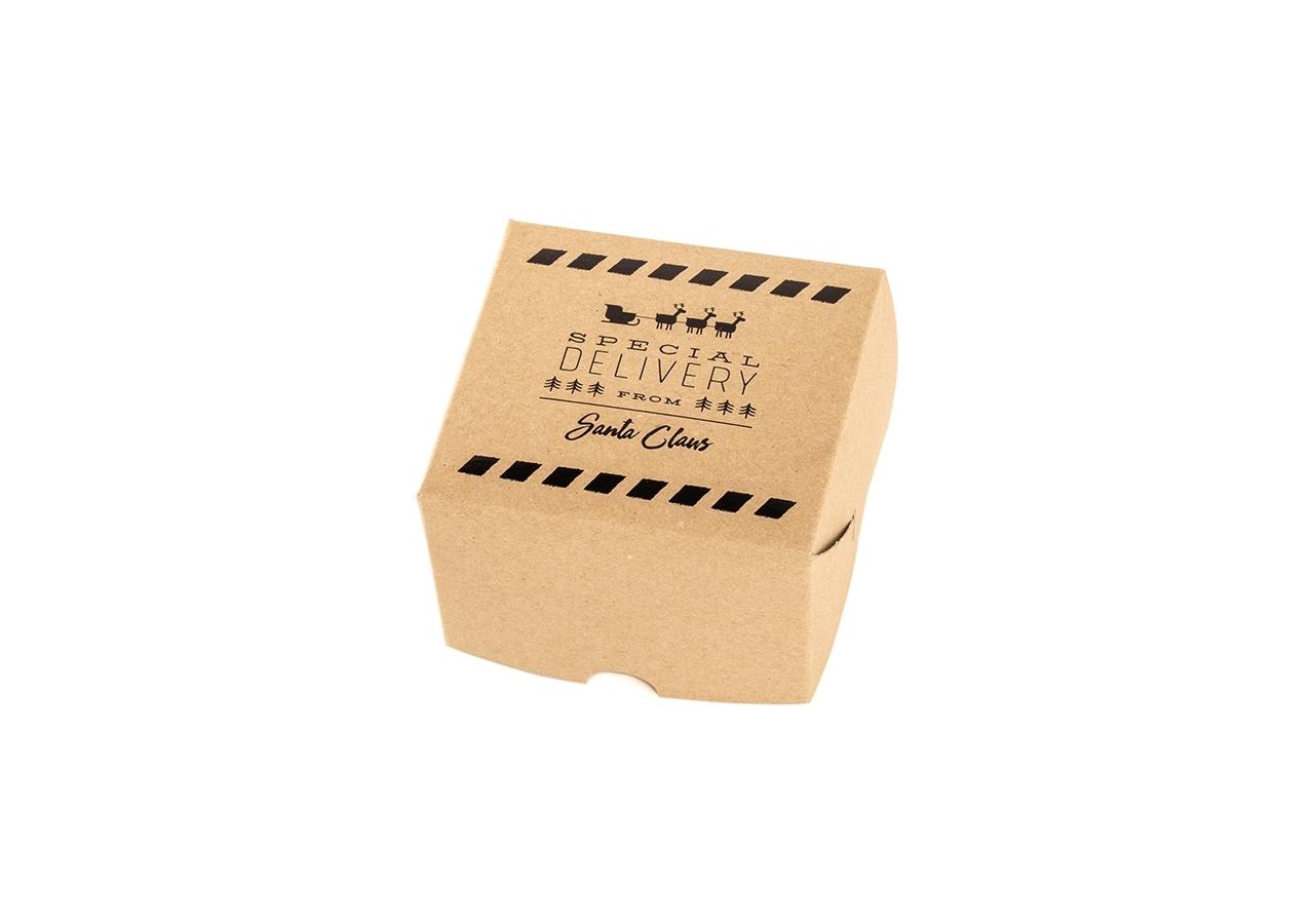 scatola dama monoporzione avana con stampa special delivery