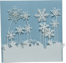 Fiocchi di neve in feltro per bordo finestra