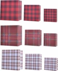 Scatole da regalo scozzesi (3 pezzi)