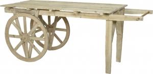 Carretto in legno per esposizione