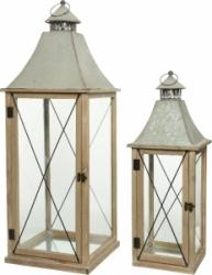 Lanterne in legno con tetto in zinco