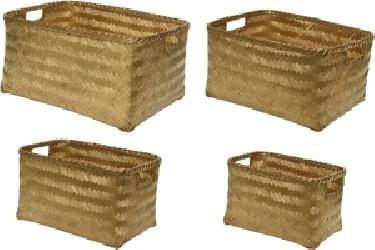 Cesti in bamboo con maniglie