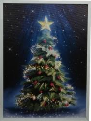 Quadro luminoso albero di natale